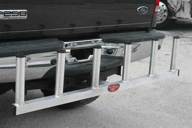 Deep sea rod holder for receiver hitch plattinum products for Hitch fishing rod holder